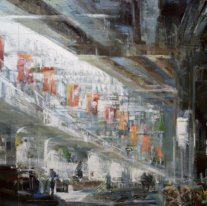 Leanne M Christie oil painting under viaduct
