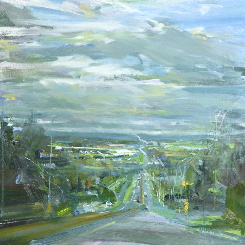 Leanne M Christie original oil painting looking south at Langley