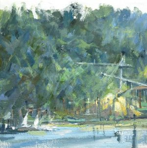 Leanne M Christie painting of the Flavelle mill in Port Moody