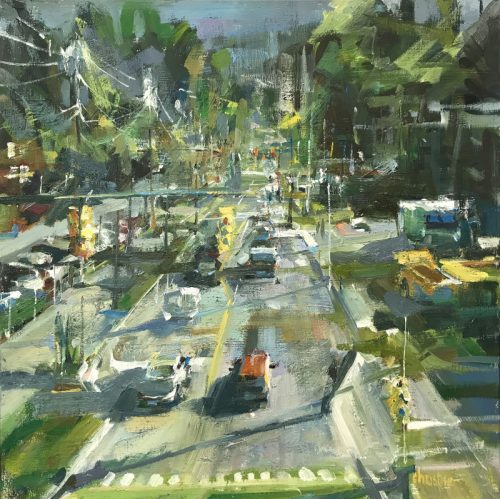 Original oil painting of Port Moody's Brewery district
